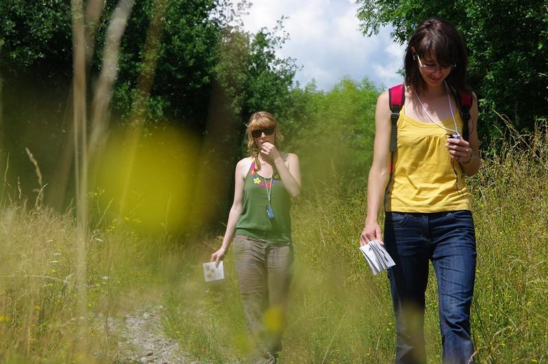 balade, lecteur mp3, nature